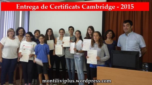 montilivi plus institut girona entrega certificats cambridge 2015